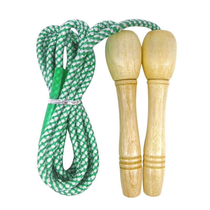 减肥锻炼成人中考跳绳男女包邮通用学生女绳木柄健身运动儿童棉胶10-25新券
