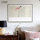 薛继业艺术新中式客厅沙发背景墙禅意装饰国画书房中堂荷花壁挂画