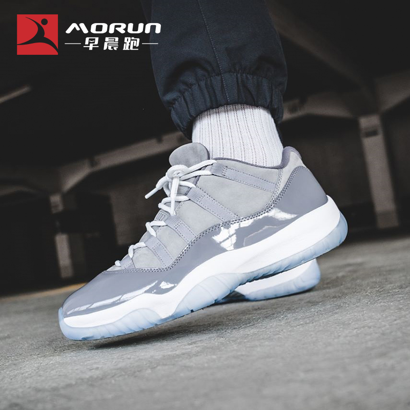 [早晨跑]Air Jordan 11 Low Cool Grey AJ11 酷灰低帮 528895-003