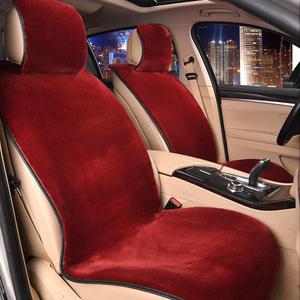 新款汽車坐墊套冬季短毛絨羊毛座墊四季通用免捆綁汽車座椅坐墊