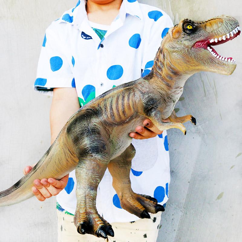 超大恐龙玩具软胶霸王龙仿真动物模型侏罗纪世界套装三角龙玩偶10月28日最新优惠