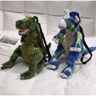 毛绒包包女2019新款日韩卡通萌少女小挎包可爱恐龙玩具背包斜挎包