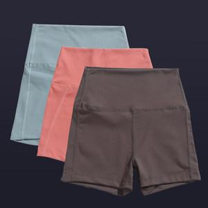 运动短裤五分健身裤欧美蜜桃提臀弹力紧身瑜伽速干高腰跑步热裤女