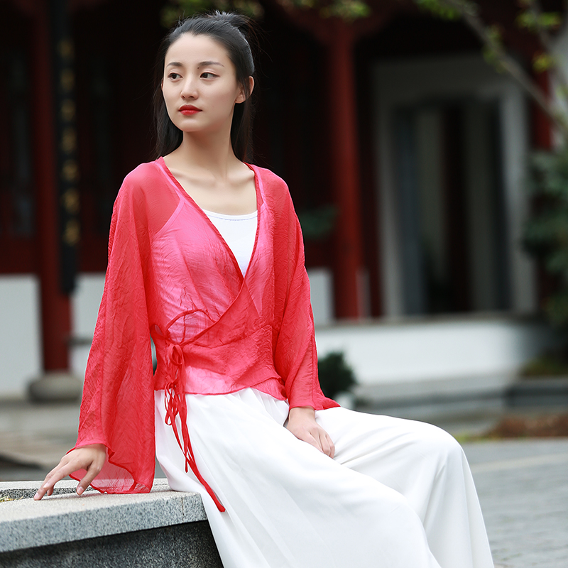 Xia Sha-Chinese style Chinese style Zen women's tea clothes Zen clothes Zen dance clothes spring and summer down