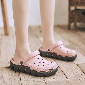 洞洞鞋女新款拖鞋学生ins潮流韩版夏季防滑外穿护士包头鞋沙滩鞋
