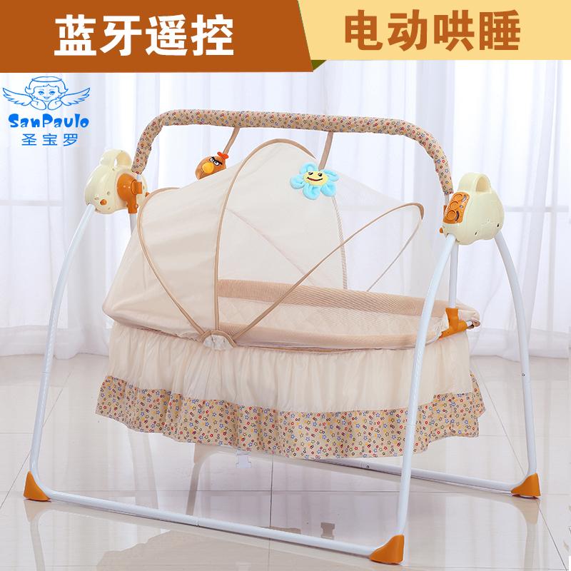 Ребенок электрический поколебать корзина кровать ребенок успокаивать колыбель ребенок автоматическая озноб кровать уговаривать сон уговаривать ребенок артефакт складные