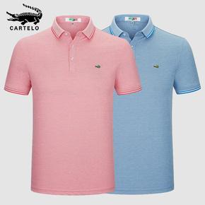 鳄鱼 丝光棉 短袖t恤 2020年夏季中青年男士T恤打底衫休闲POLO衫