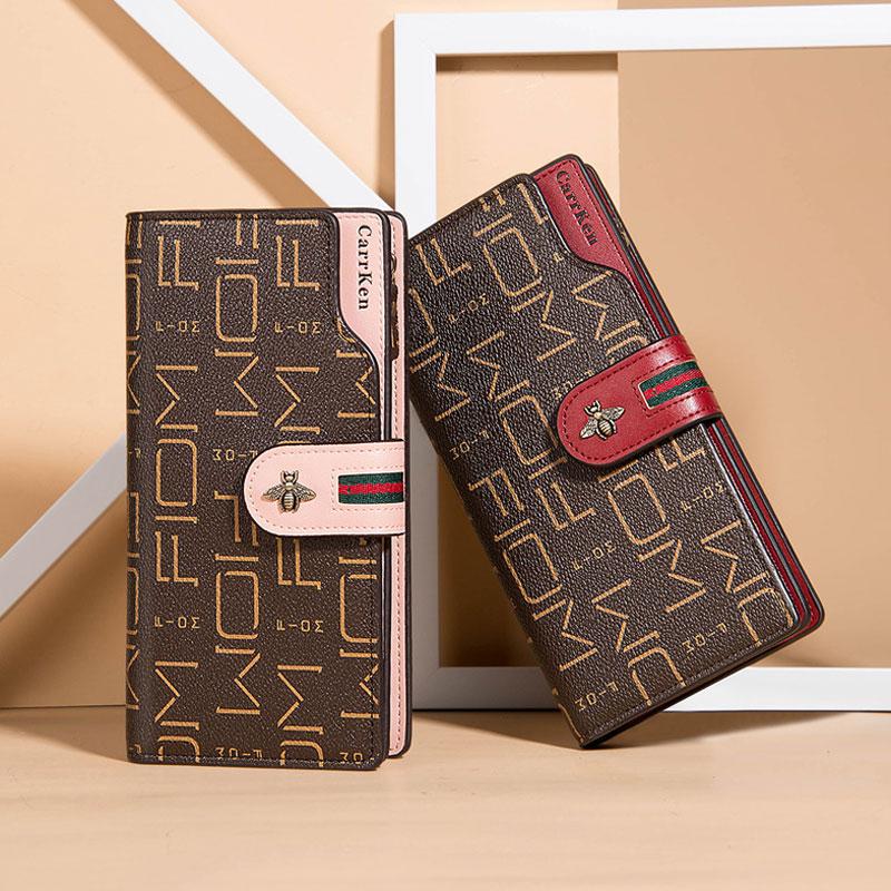 小CK钱包女长款2019新款时尚简约大容量大气拉链款手拿包可放手机