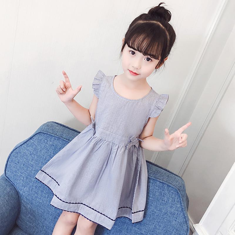 女童连衣裙2018新款韩版夏季洋气夏装公主宝宝裙子儿童3纯棉2-8岁