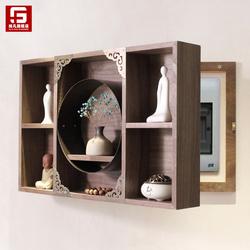 新中式电表箱遮挡壁挂墙面配电箱装饰禅意置物架客厅墙壁轻奢挂件