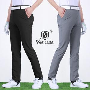 高尔夫男士修身弹力速干薄款长裤