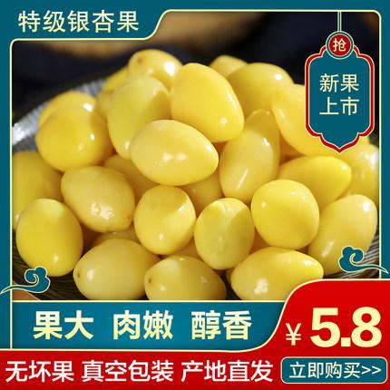银杏果新鲜白果仁去壳真空包装1斤2斤5斤邳州特产特级开心果仁