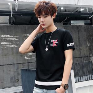 亚博娱乐平台入口夏季新款短袖男韩版修身T恤青少年休闲圆领打底衫上衣男29308