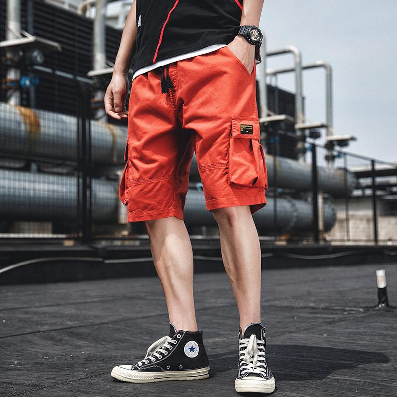 TS13855#短裤男士裤韩版潮流夏季潮牌纯棉宽松薄款五分休闲裤工装裤