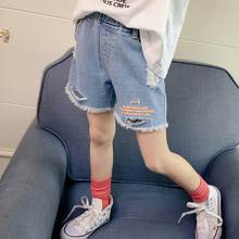 Girls'Jeans Shorts Summer Clothes 2019 New Korean Edition Children's Westernized Slim Outside Pants