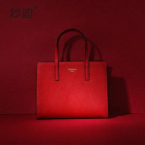 新娘结婚包包女2019年新款时尚小ck手提包网红婚礼大容量红色包包
