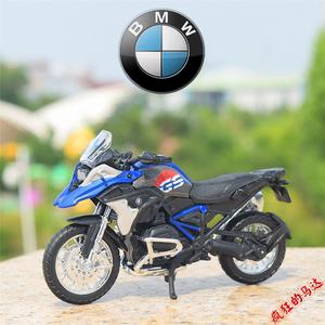 2017款宝马 R1200GS 越野拉力赛车美驰图1:18 合金摩托车模型摆件图片