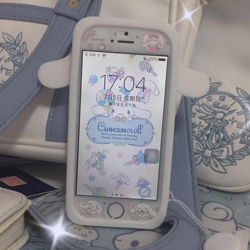 可爱少女心玉桂狗适用5s苹果5se手机壳iPhone5卡通4S硅胶大耳狗4
