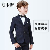 Boy Suit Suit 2018 New childrens small suit three-piece male handsome child flower girl dress British
