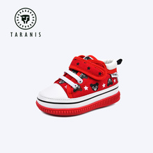Tarannis walking shoes 1-2 years old baby is called cartoon shoes spring and autumn cotton anti loss shoes soft soled functional shoes