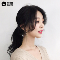 Real hair in the middle of Liu Hai Wig piece stealth on both sides of the face without trace oblique deflection air long sideburns eight words flow sea
