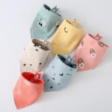 口水巾花色通用圍巾貓狗飾品項圈圍脖嘴挑逗玩具 寵物三角巾6條裝