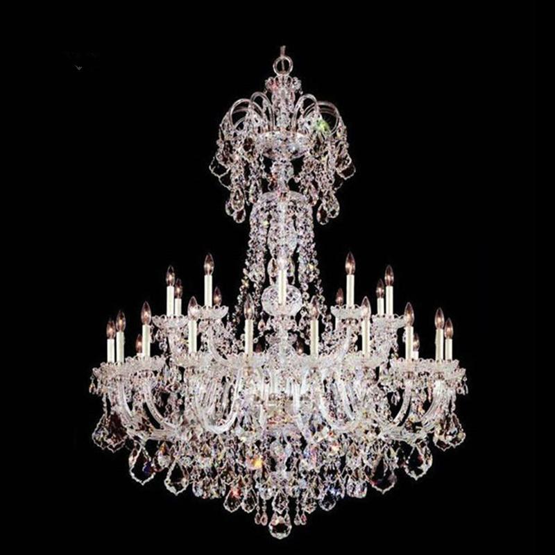 欧式水晶灯大气复式楼客厅大吊灯旋转楼梯间长吊灯别墅酒店大厅灯