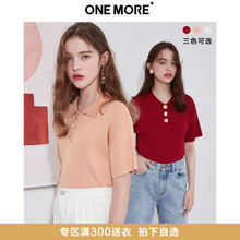 ONE MORE 2009 Summer New Polo Collar Button Knitted Top Pure Commuter Modai
