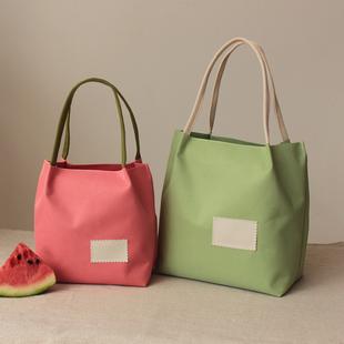 新款可爱便当包饭盒袋手提拎包午餐包帆布环保袋小饭盒包防水牛津