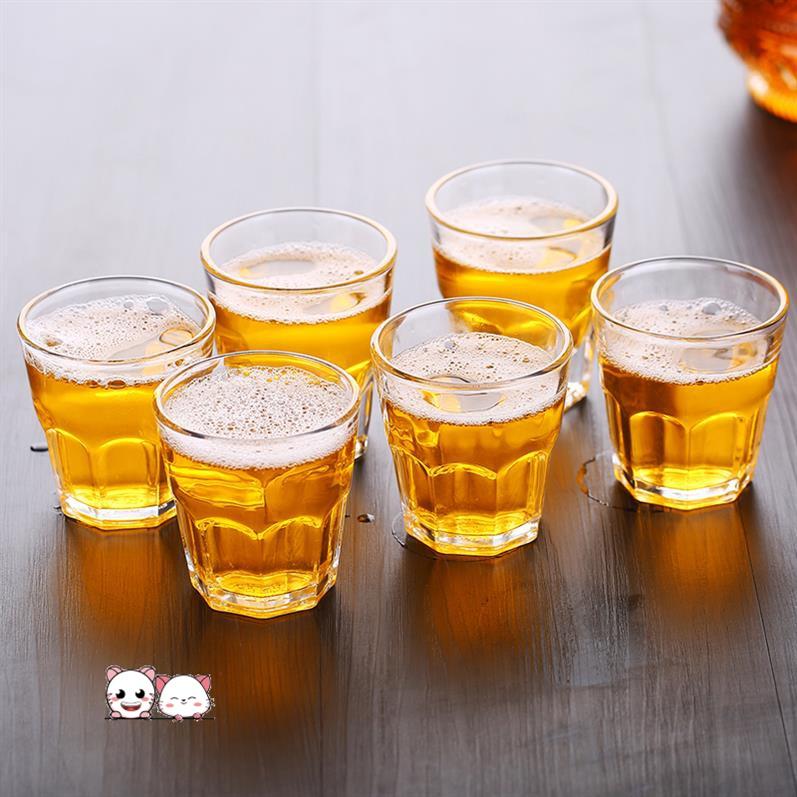 酒盅传统复古酒具喝白酒的杯子单个洋酒杯创意酒吧古风玻璃杯饭店
