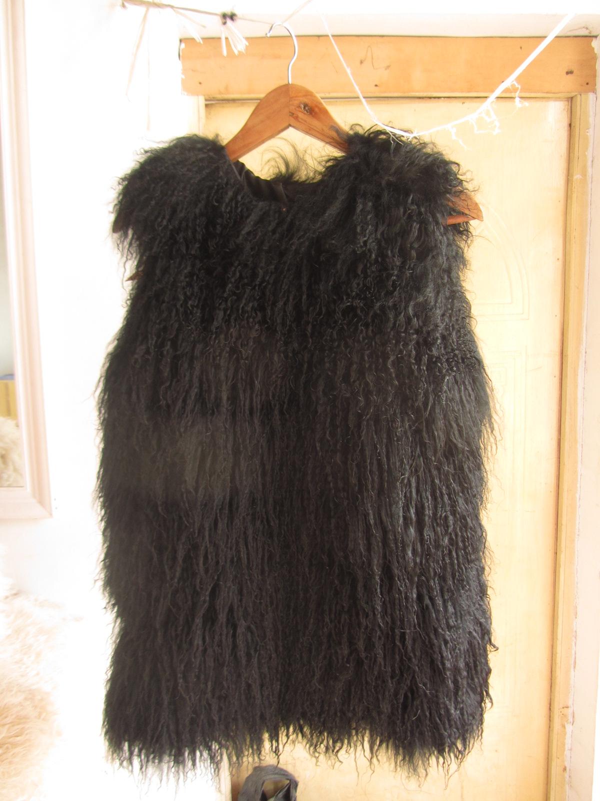 Специальное предложение Распродажа мыши Тан овец меха трава жилет мех пальто жилет Фокс меха длинные