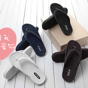 Natural rubber slippers sandals men and women simple shoes sandals couple slippers sandals rattan summer tide shoes
