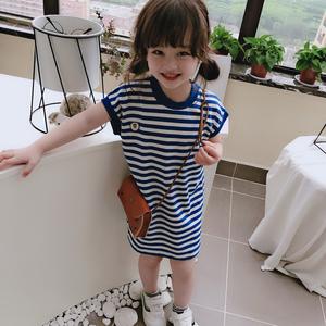 2021夏季新款儿童休闲中长款连衣裙