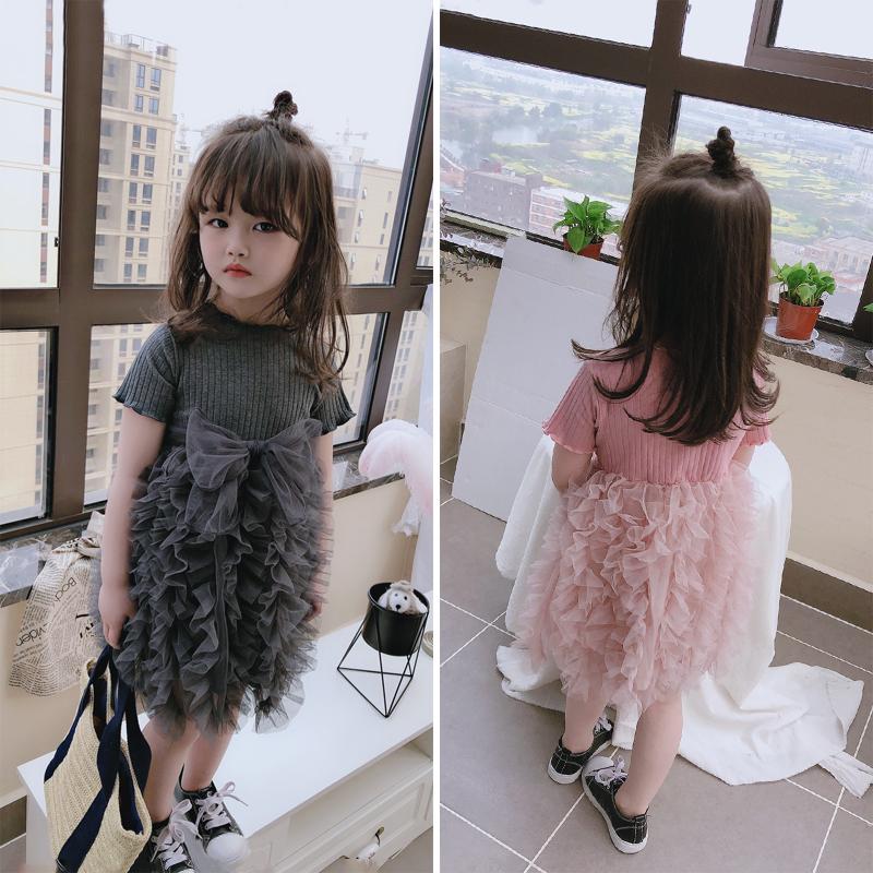 儿童2020童装夏季新款 公主可爱女童宝宝连衣裙 蓬蓬拼接层层纱裙