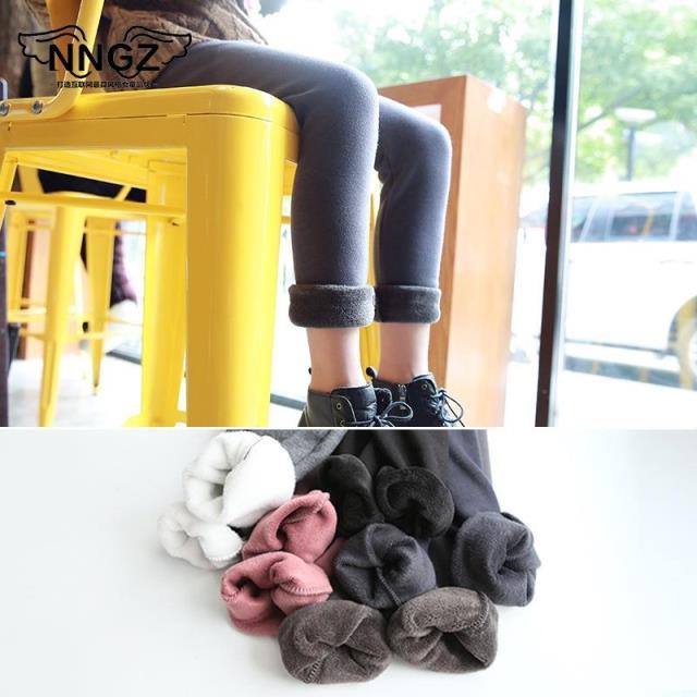 韩版新品 2017冬季新款儿童女童宝宝打底裤加绒加厚保暖长裤