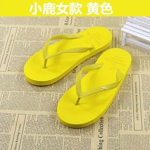 新款人字拖女学生休闲时尚女士平跟卡通防滑沙滩鞋韩版纯色居家潮