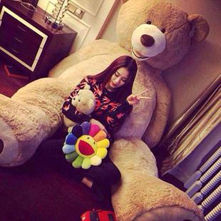 美國大熊超大號毛絨玩具泰迪熊生日禮物送女生朋友2米 布娃娃公仔