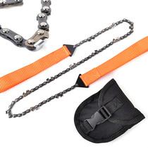 户外便携式锯子野营工具求生折叠手拉链锯锰钢链条线锯生存装备