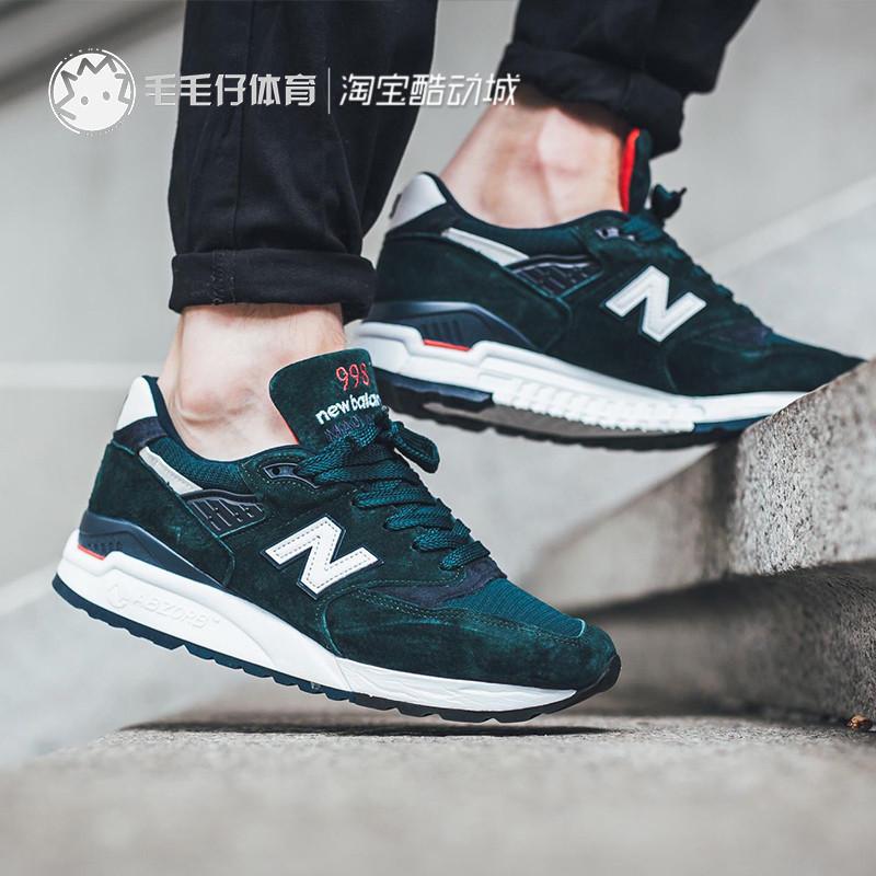 New balance NB男鞋998麂皮美产USA运动休闲鞋 复古慢跑鞋M998CHI