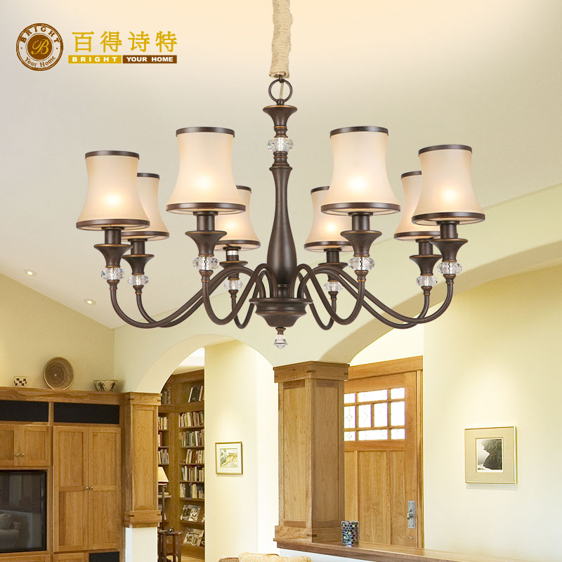 Baxter high end atmospheric Jian Ou Hestia series 8-head living room chandelier ha1058