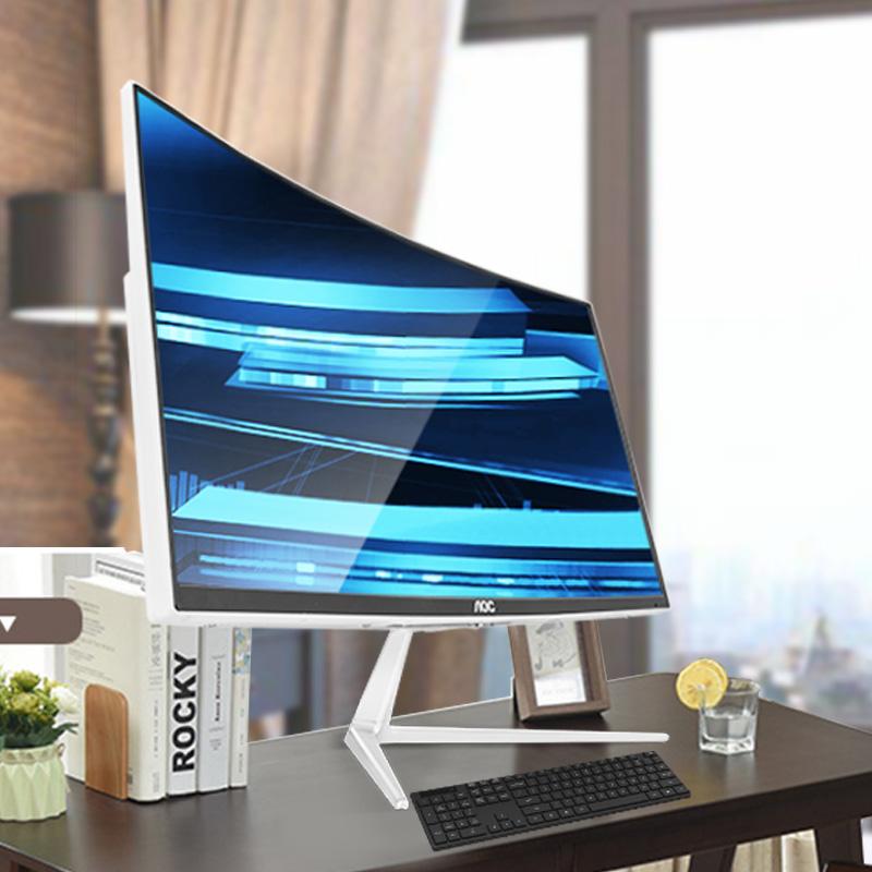 AOC曲面一体机电脑台式全套曲屏i3 8100 i5i7高配曲面屏家用办公游戏一体式电脑24超薄23.6英寸教学整套机739
