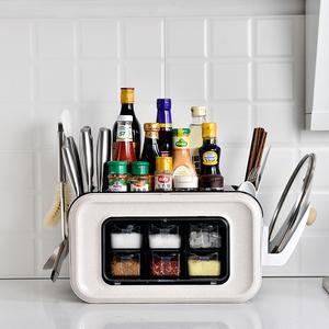 多功能刀具收纳架家用厨房用品刀架筷子笼一体菜板菜刀砧板置物架