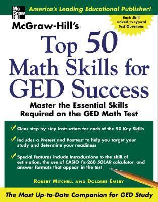 【预售】McGraw -Hill's Top 50 Math Skills for GED Success