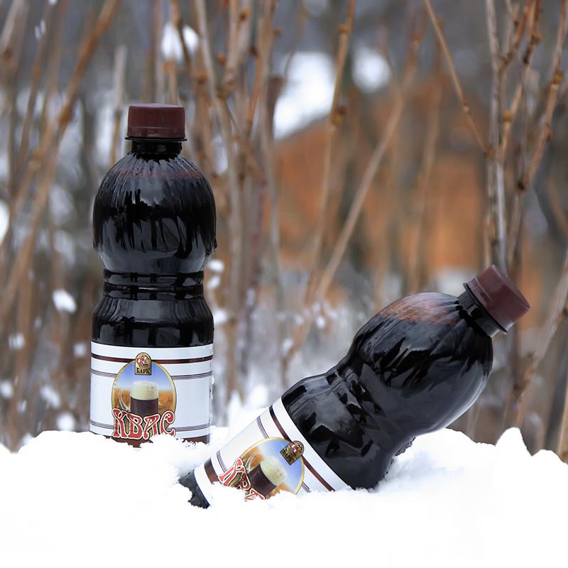 俄羅斯進口格瓦斯飲料原裝糧食釀造型碳酸汽水1.2度500ml 包郵