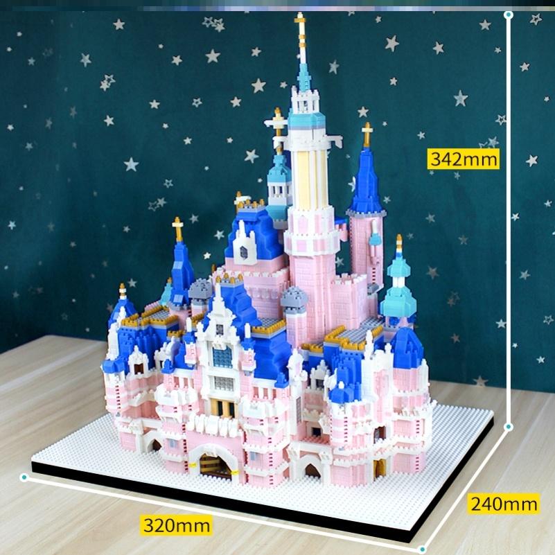钻石粉色玩具立体成年人女孩积木霍迪士尼建筑波特乐高哈利乐园格