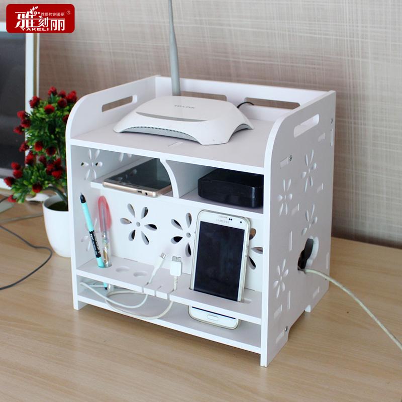 雅刻麗電線收納盒電源線集線器插線板電腦線整理盒插座充 收納