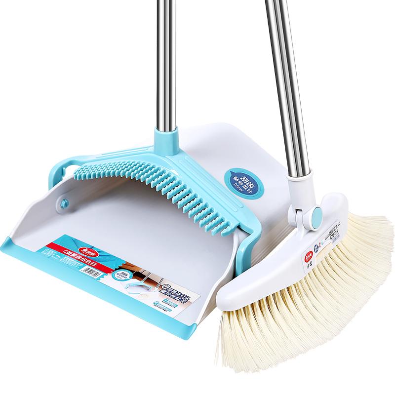 美丽雅簸箕扫把组合套地刮卫生间浴室地板家用懒人扫头发神器扫帚
