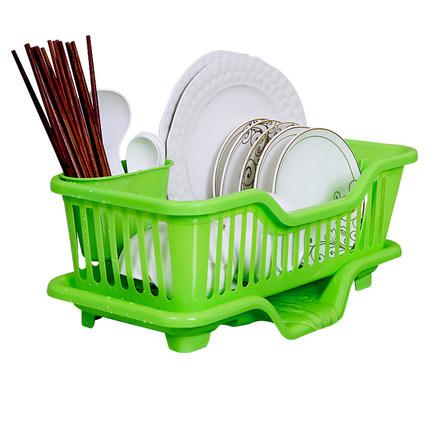 厨房用品沥水碗架碗筷带盖收纳盒