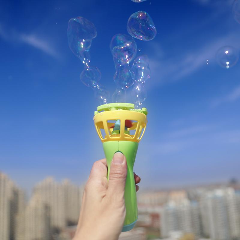 新款泡中泡泡泡机安全无毒出口好品质泡沫材质不伤手电动风扇泡泡
