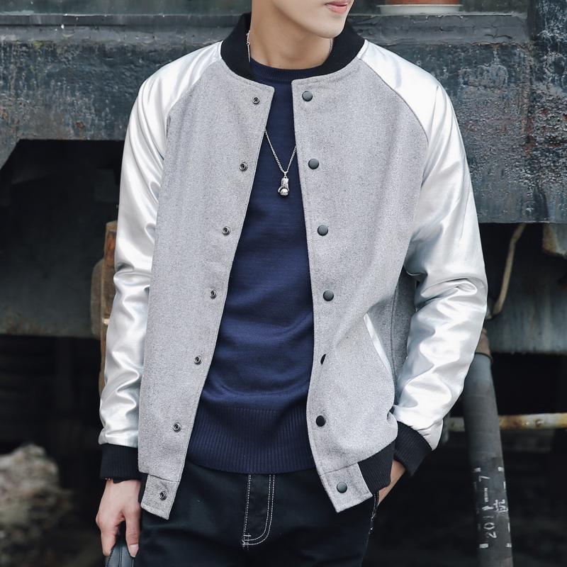 秋季2017新款外套男韩版潮流帅气夹克修身棒球服潮男学生褂子上衣_英家券